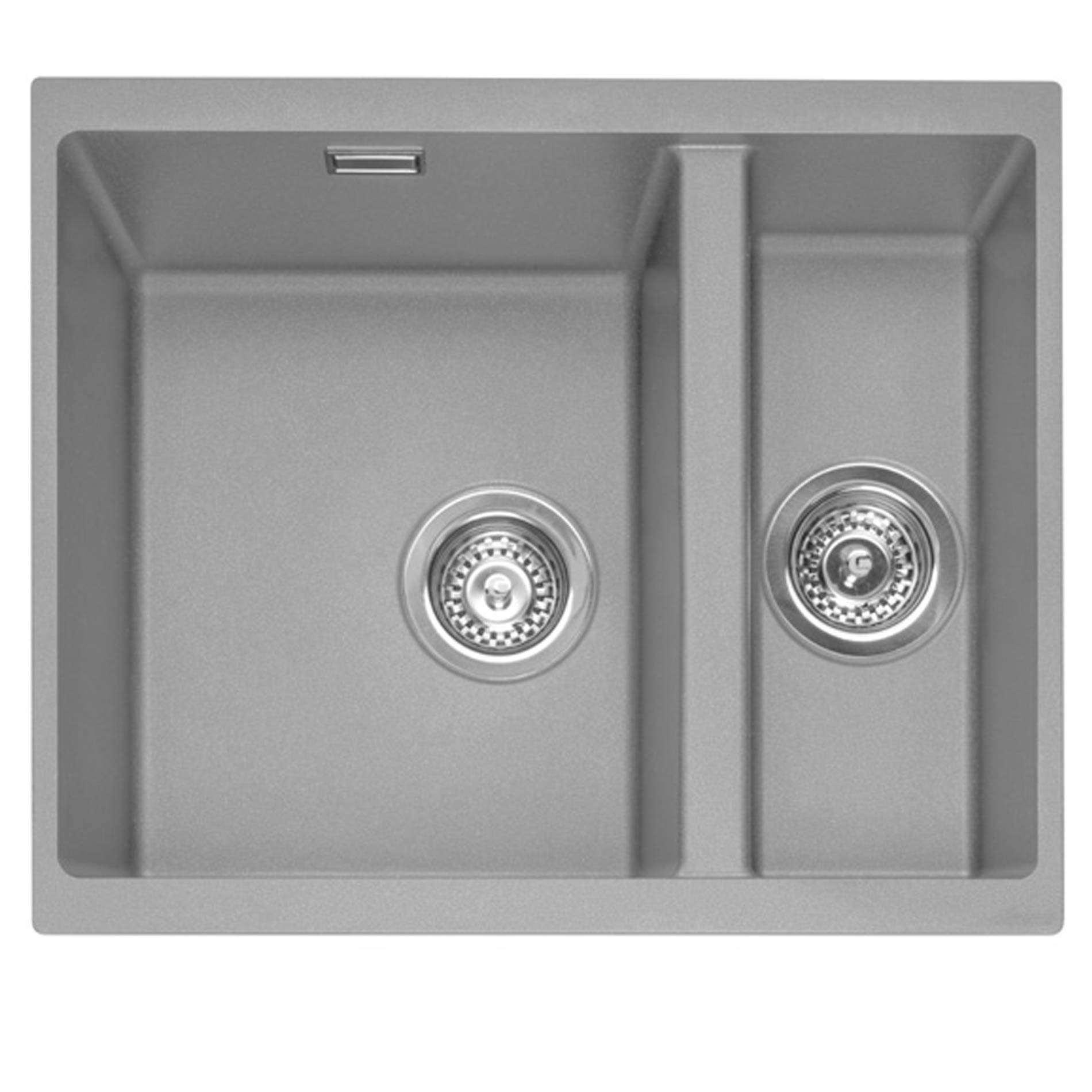 Caple: Leesti 150U Pebble Grey Granite Sink And Washington Tap Pack ...