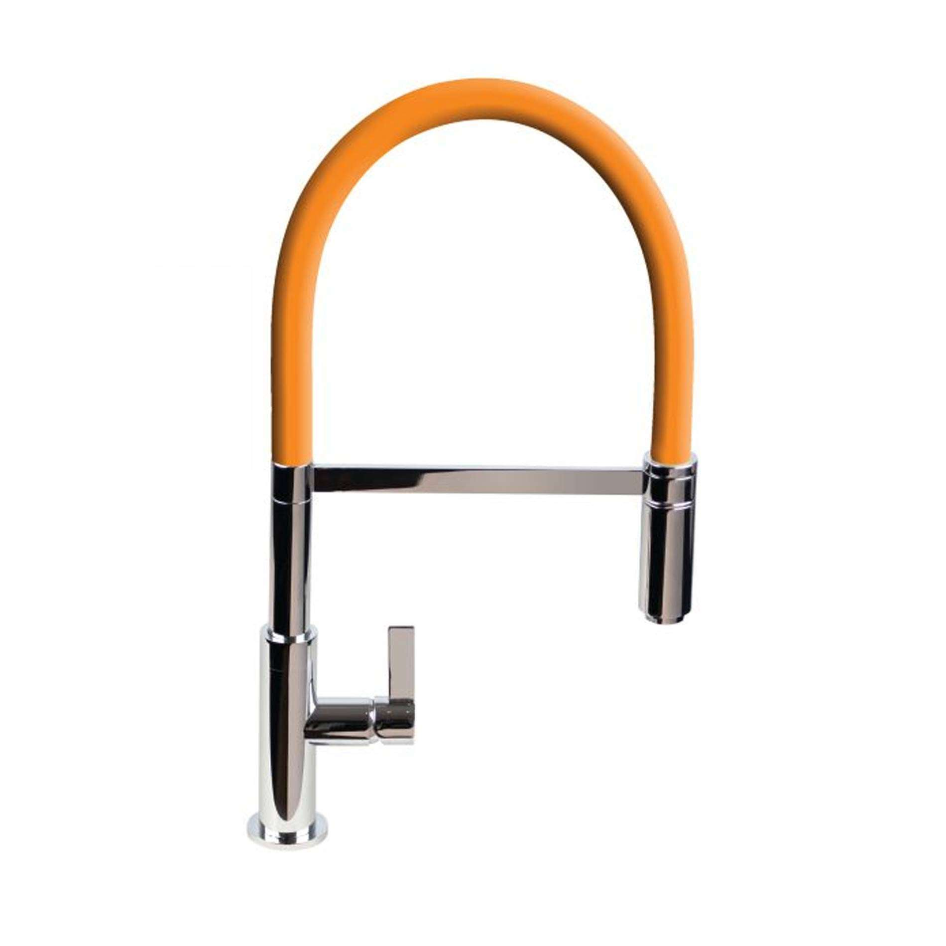 Picture of Spirale Brushed And Orange Flexible Spout Tap