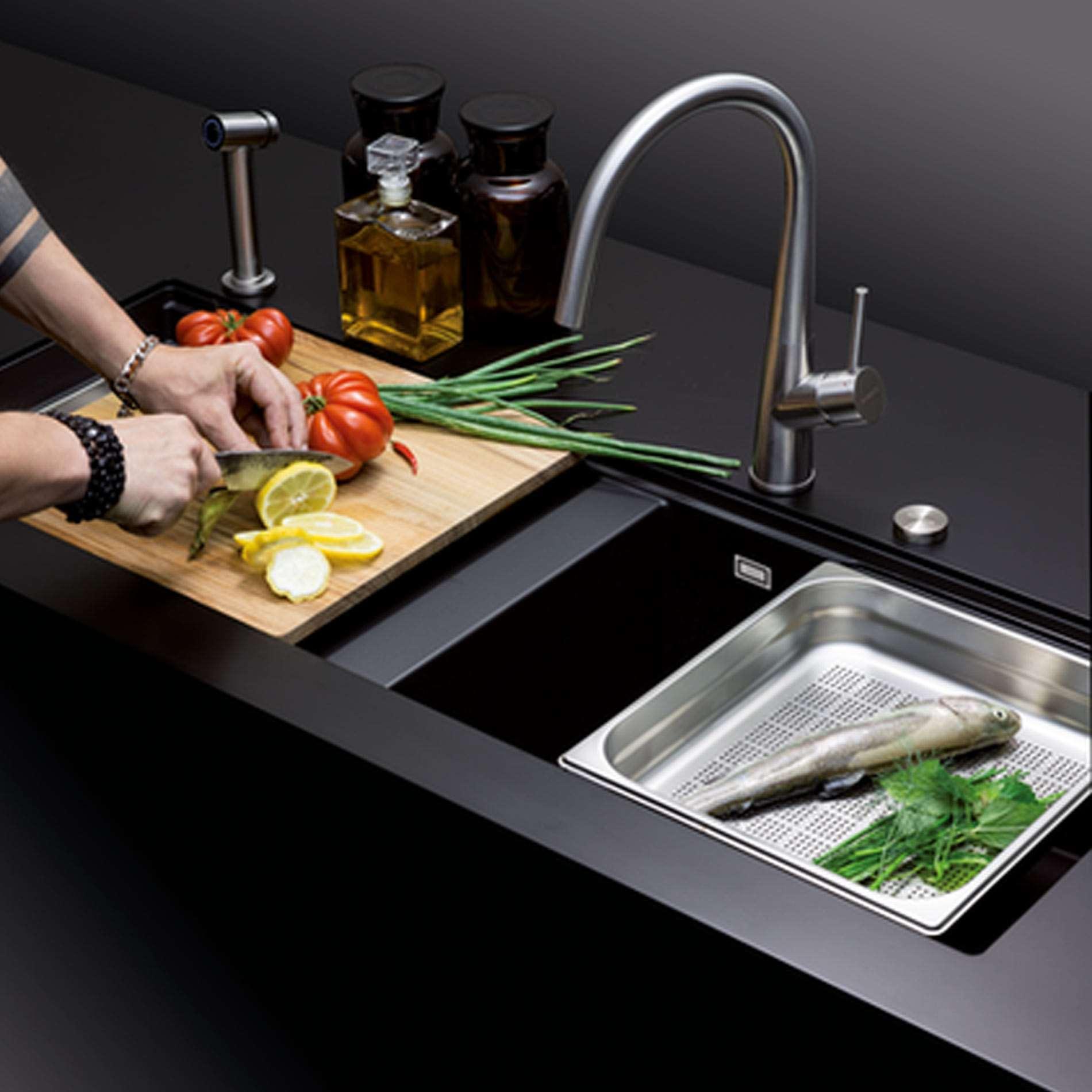 Schock Prepstation Pre D Magnolia Granite Sink Kitchen Sinks Taps