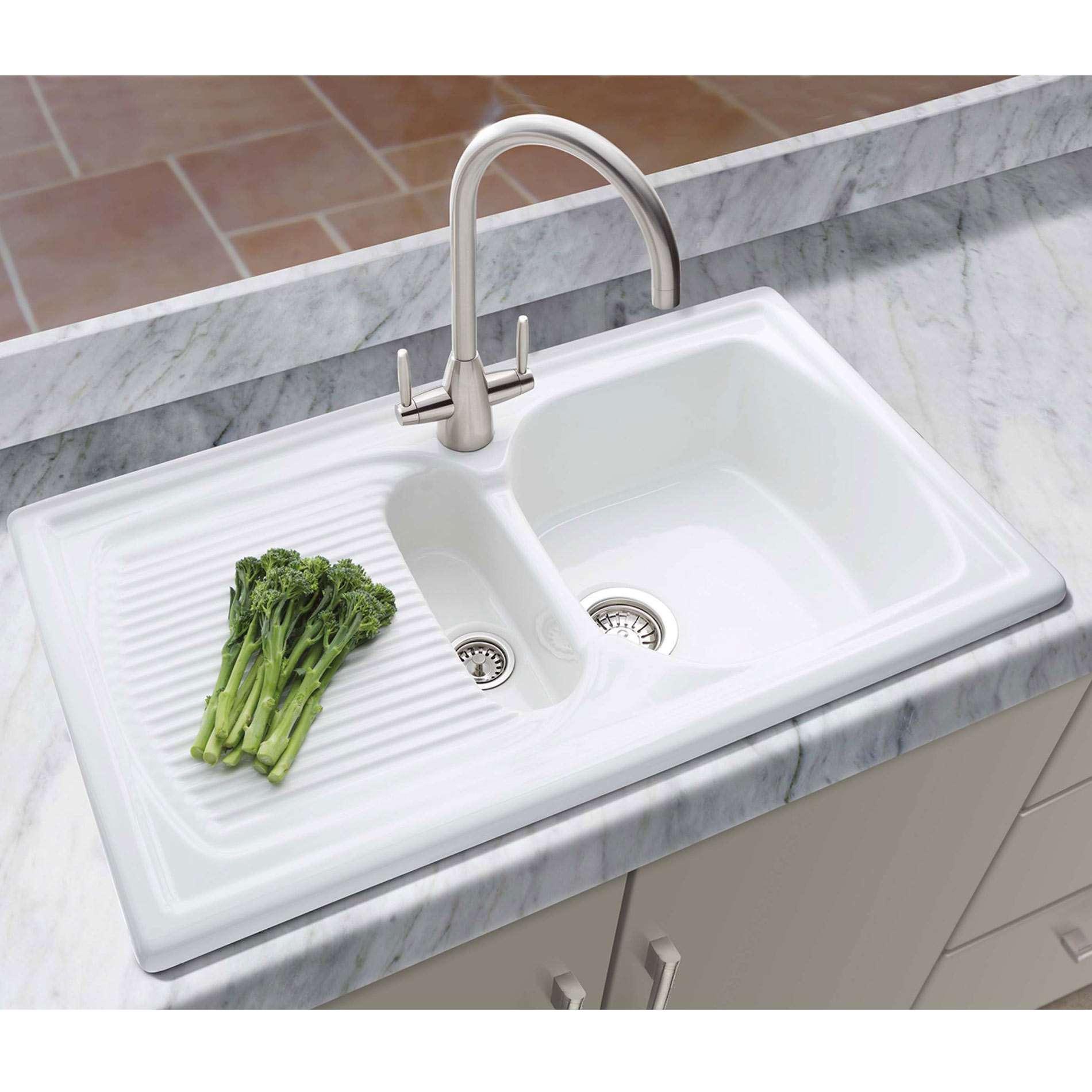 Galley Kitchen Sink: Thomas Denby: Galley Ceramic Sink