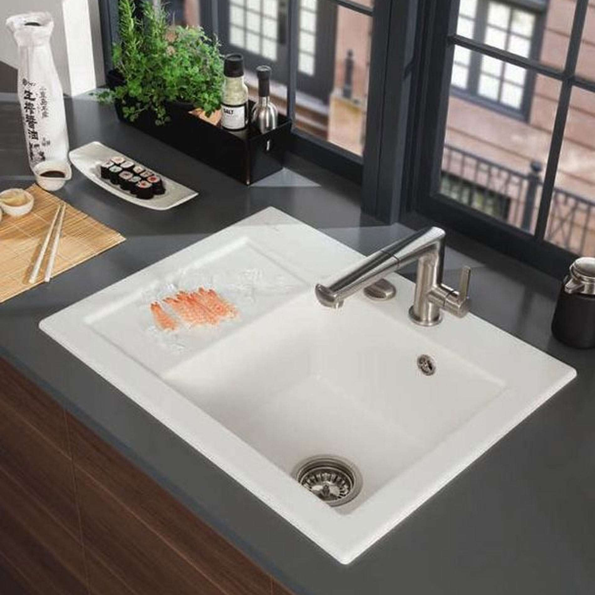 Villeroy & Boch: Subway 45 Compact Ceramic Sink - Kitchen ...