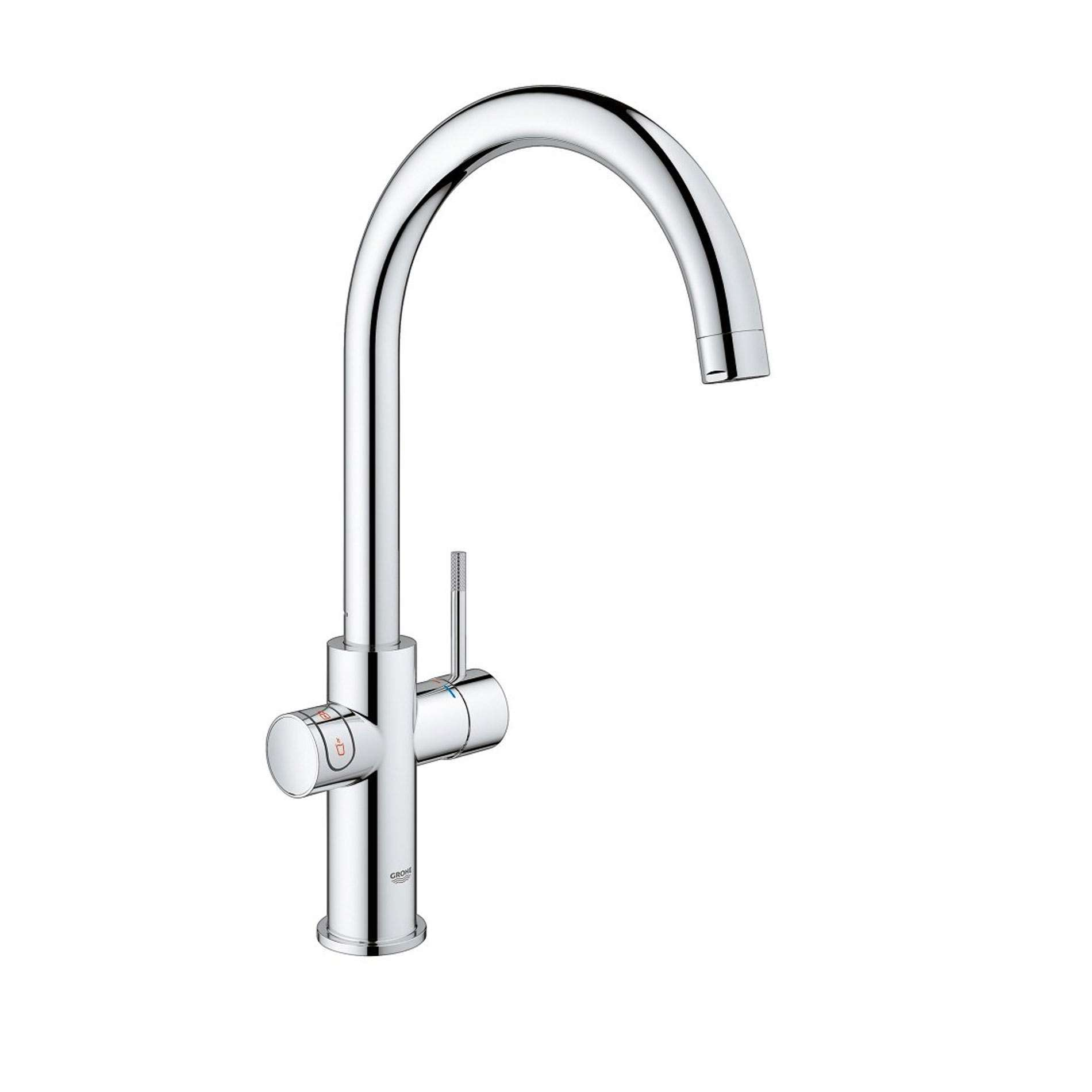 Picture of Red Duo 30058001 Chrome Hot Water Tap