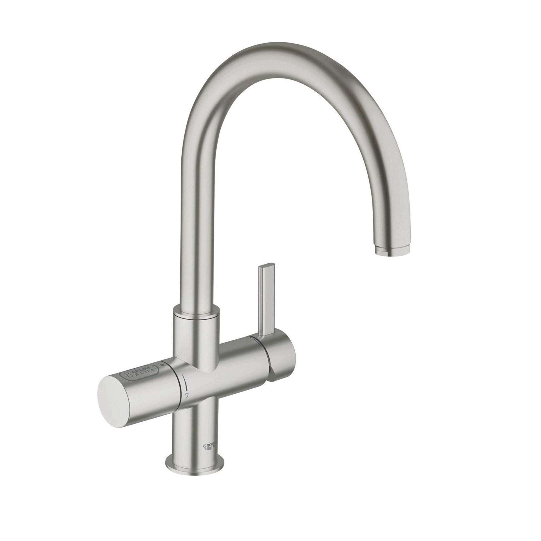 Picture of Blue Mono 33249DC1 Brushed Steel Tap