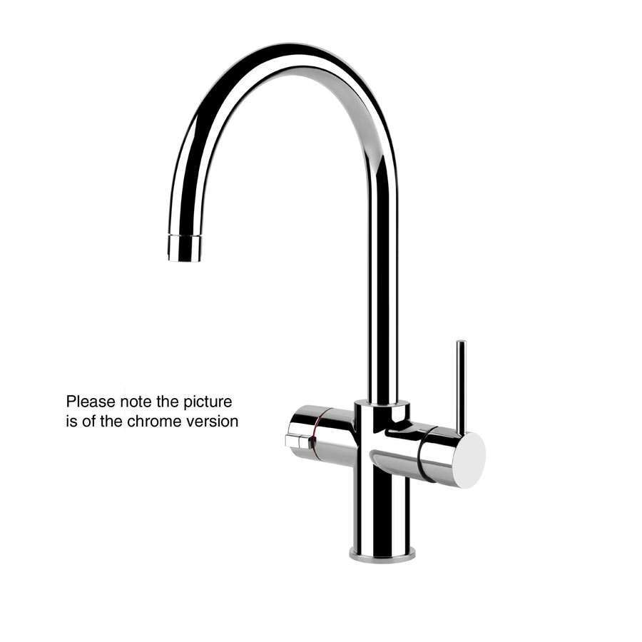 Picture of Oxygen 98 U Spout Brushed Nickel Tap