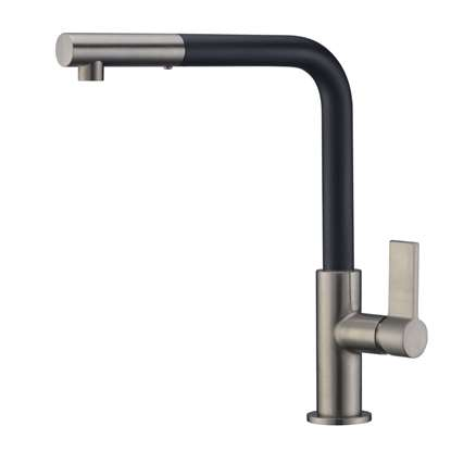 Picture of Clearwater: Auriga Black And Brushed Nickel Pull Out Tap