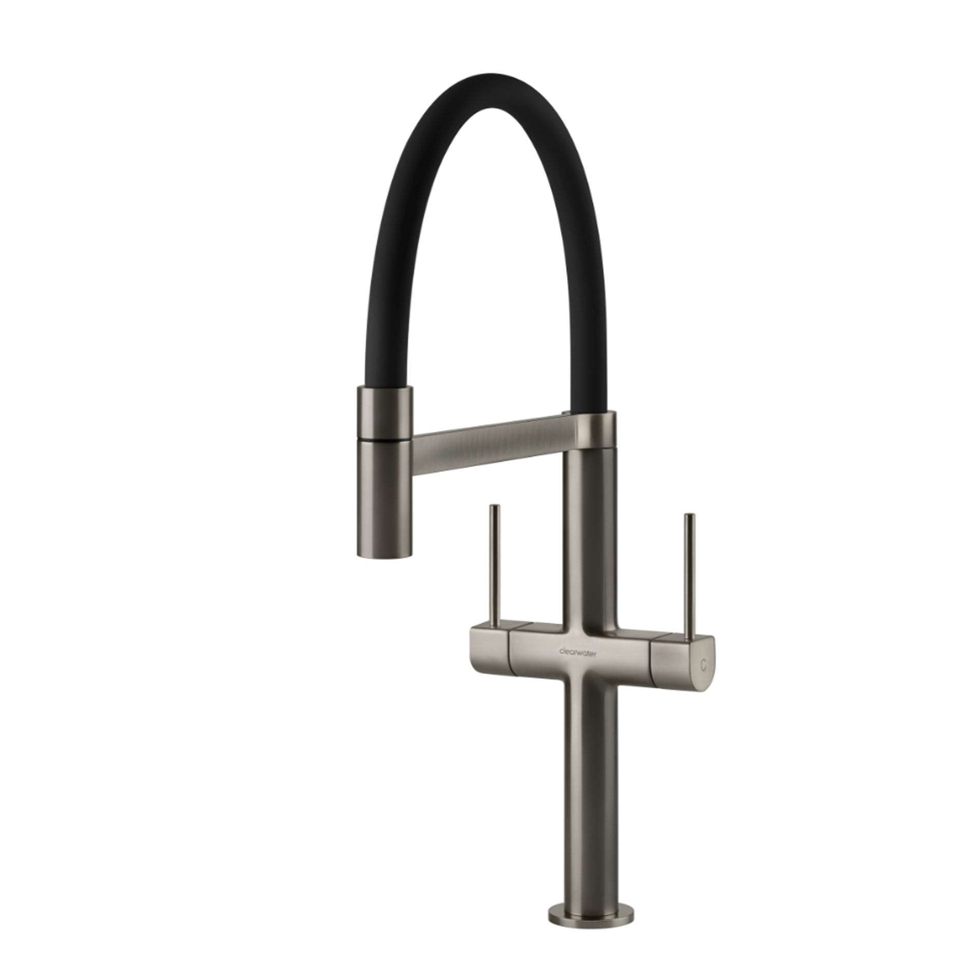 Picture of Dorado Brushed Nickel And Black Tap