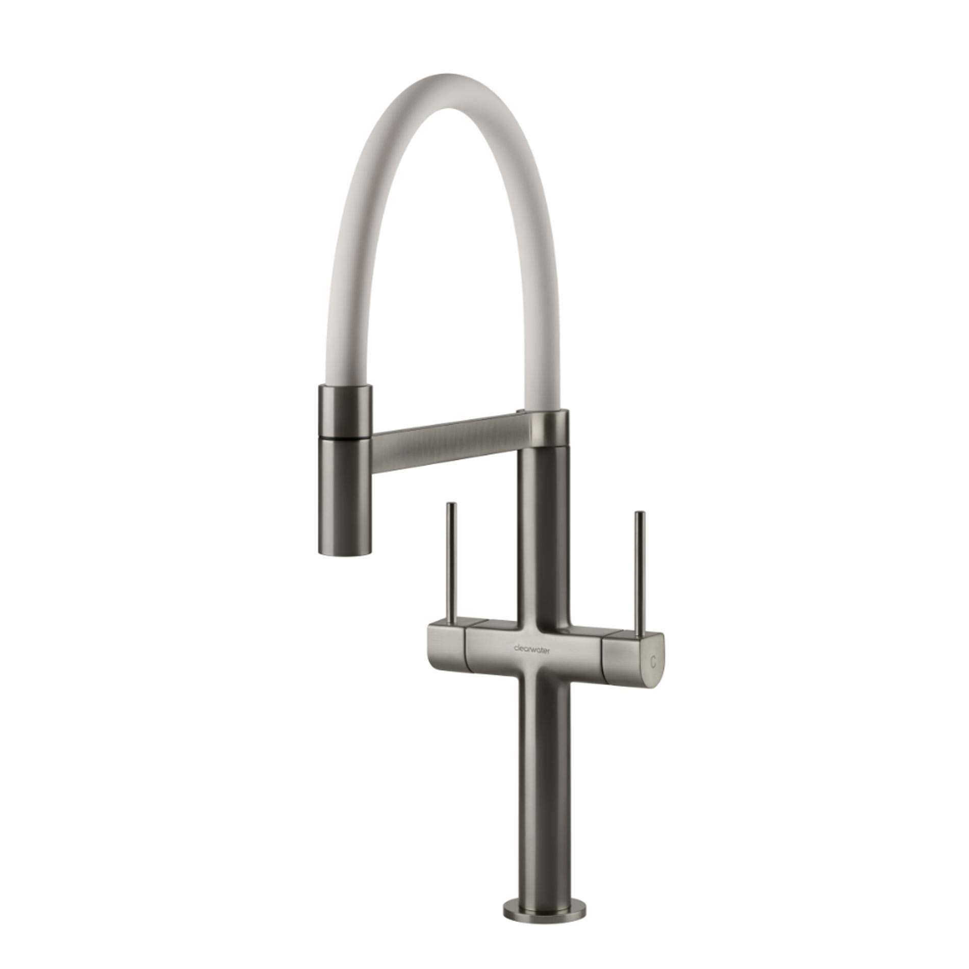 Picture of Dorado Brushed Nickel And White Tap