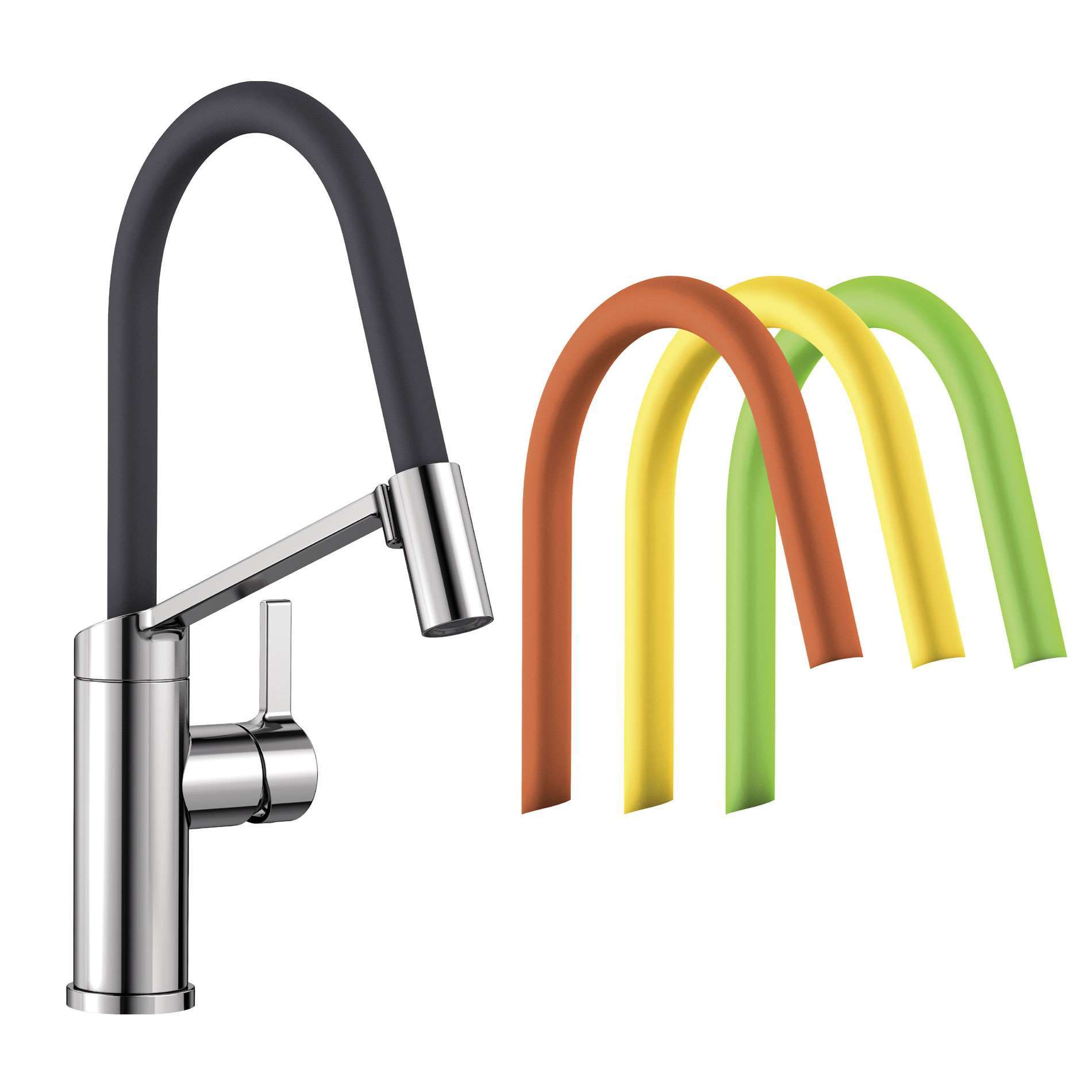 Picture of Viu-S Chrome Tap With Exchangeable Hoses