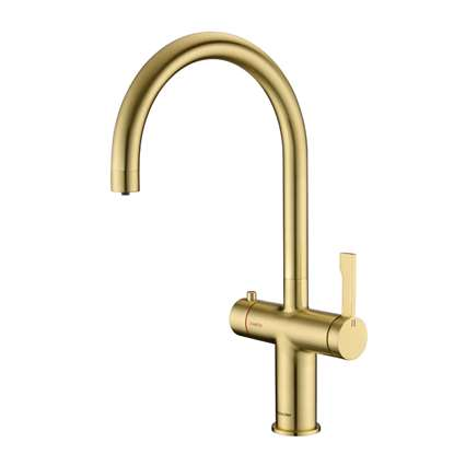 Picture of Clearwater: Magus 3 C Spout Brushed Brass Tap